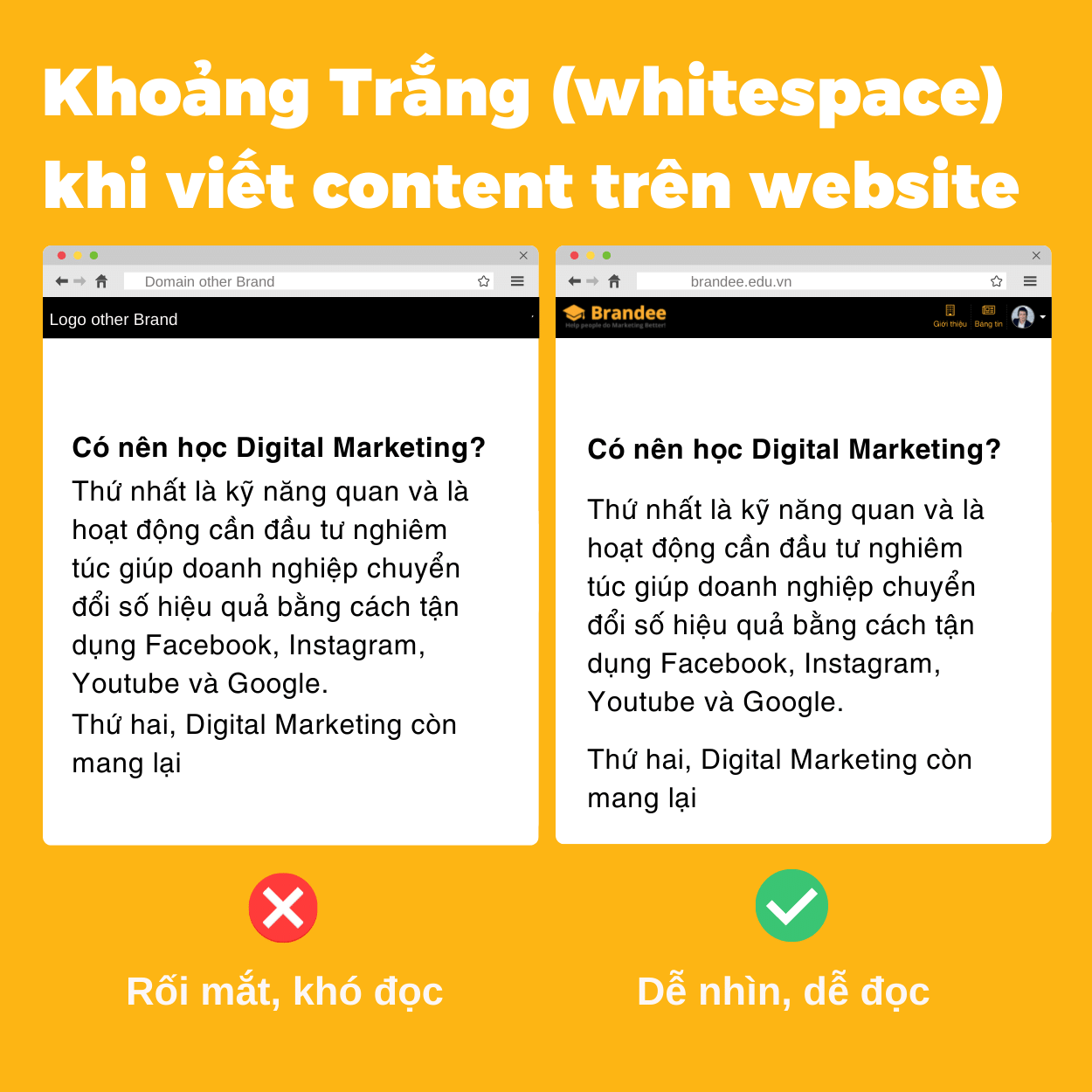 Khoảng Trắng (whitespace) khi viết content trên website
